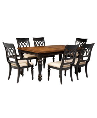 Dakota Dining Room Furniture 7 Piece Set Table 4 Side Chairs And 2