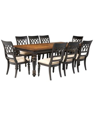 Dakota Dining Room Furniture 9 Piece Set Table 6 Side Chairs And 2