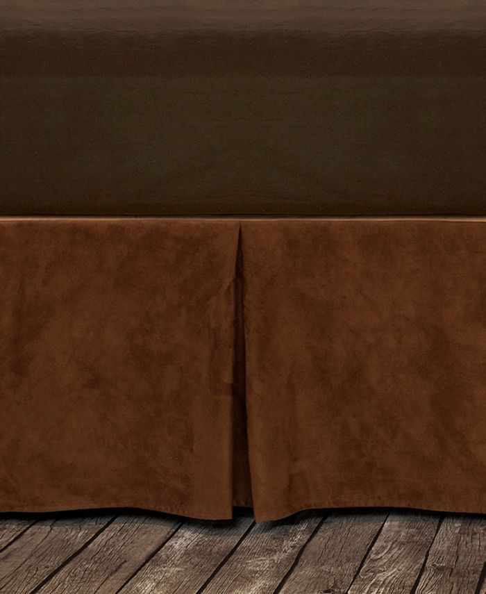 HiEnd Accents - Microfiber Suede Bedskirt, Twin Copper