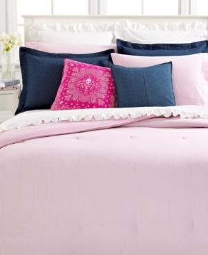 Lauren by Ralph Lauren Bedding, University White Denim European Pillow Sham Bedding