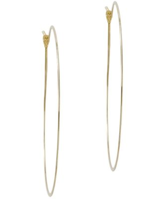 Michael Kors Thin Gold Tone Hoop Earrings Fashion Jewelry