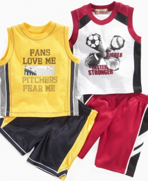 Kids Headquaters Baby Set, Baby Boys Sport Tank and Shorts