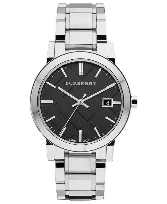 Burberry - Watch, Men's Swiss Stainless Steel Bracelet 38mm BU9001