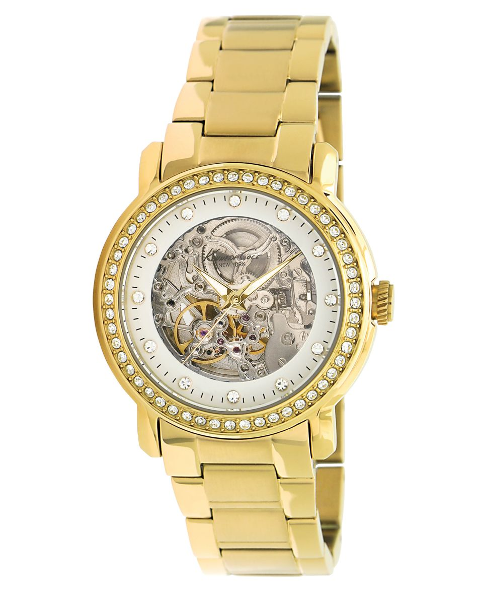Kenneth Cole New York Watch, Womens Automatic Yellow Gold Ion Plated Stainless Steel Bracelet 38mm KC4825   Watches   Jewelry & Watches