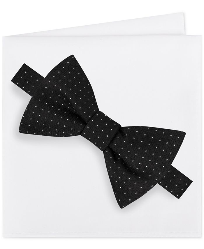 Michael Kors - Men's Formal Party Pindot Bow Tie & Pocket Square Set