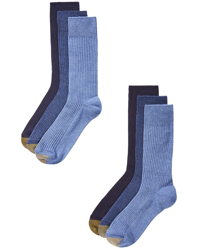 Gold Toe - Men's 6-Pk. Crew Socks