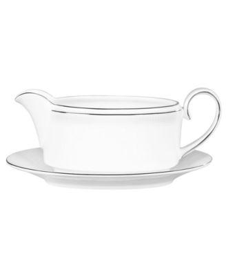 Vera Wang Wedgwood Dinnerware, Blanc sur Blanc Gravy Boat Stand