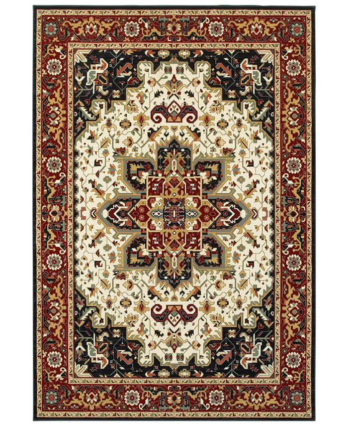 "Oriental Weavers - Kashan 96W Red/Ivory 7'10"" x 10'10"" Area Rug"