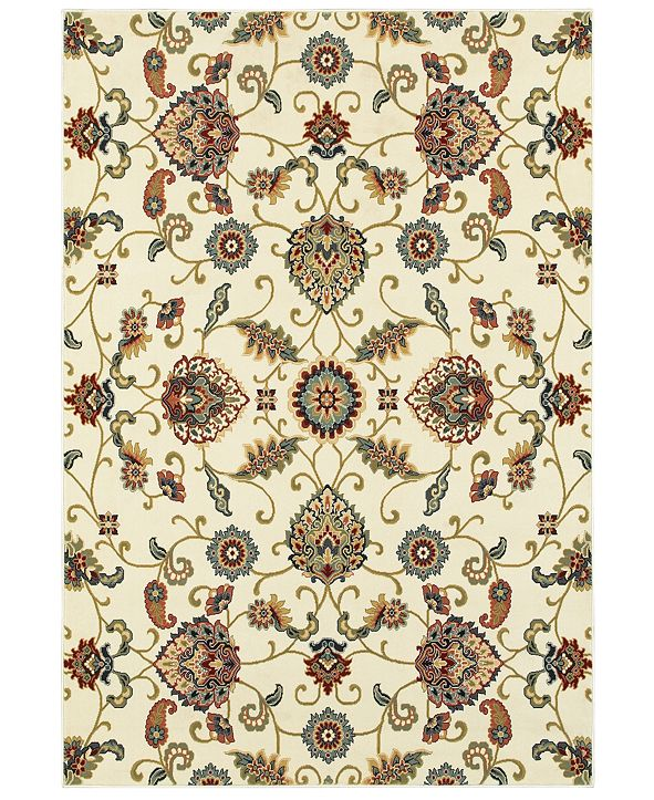 "Oriental Weavers Kashan 9946W Ivory/Multi 5'3"" x 7'6"" Area Rug"