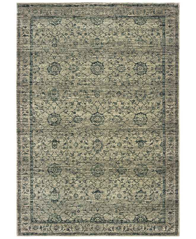 "Oriental Weavers Mantra 501L Gray/Blue 9'10"" x 12'10"" Area Rug"