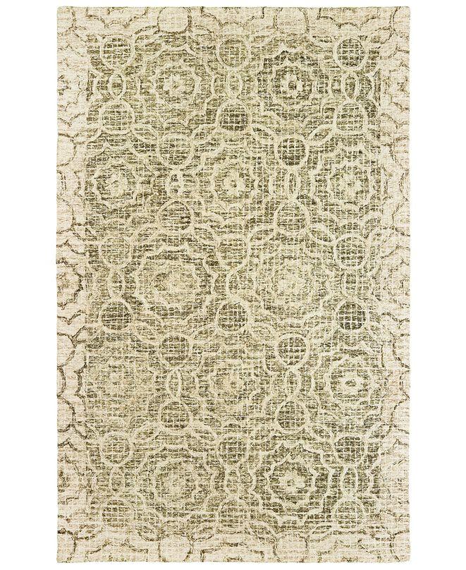 "Oriental Weavers Tallavera 55606 Green/Ivory 3'6"" x 5'6"" Area Rug"
