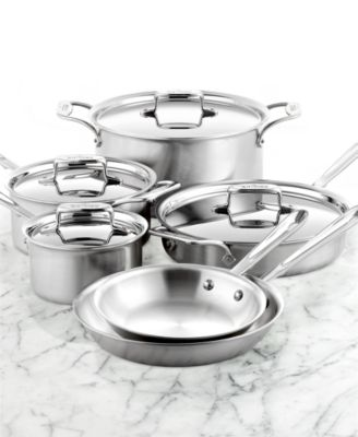 All Clad Stainless Steel 10 Piece Cookware Set Cookware