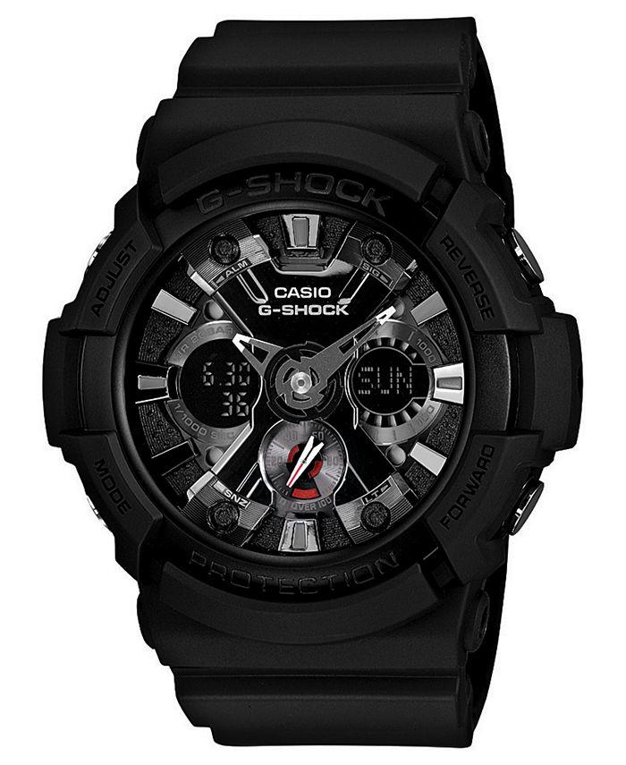 G-Shock - Men's Analog Digital Black Resin Strap Watch 55x53mm GA201-1A
