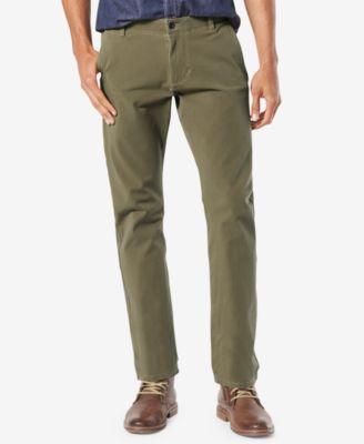 Men's Alpha Smart 360 FLEX Slim Tapered Fit Khaki Stretch Pants