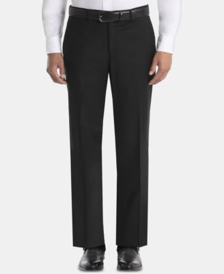 Men's UltraFlex Classic-Fit Black Wool Pants