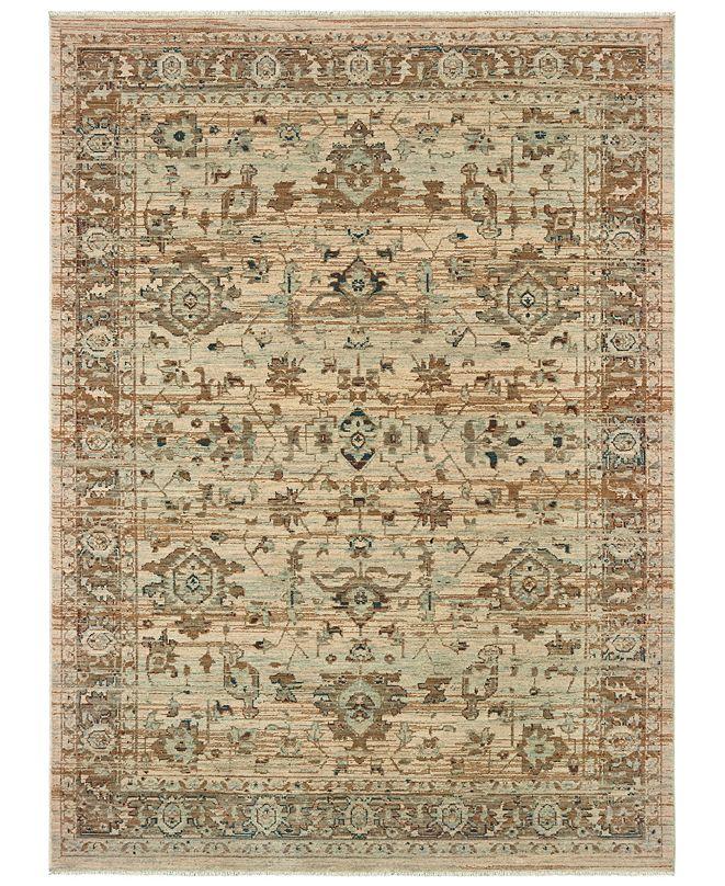 "Oriental Weavers Anatolia 8020J Sand/Blue 7'10"" x 10'10"" Area Rug"
