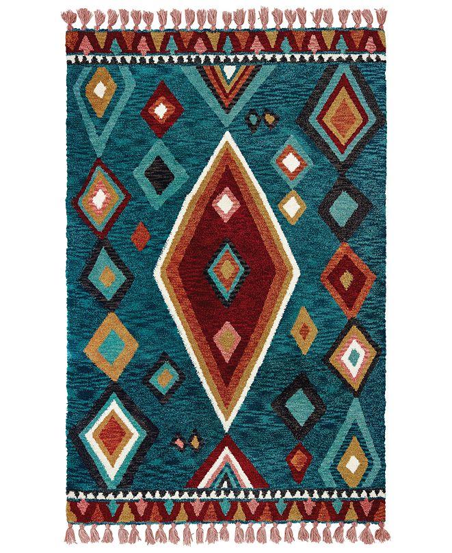 Oriental Weavers Madison 61402 Blue/Pink 10' x 13' Area Rug