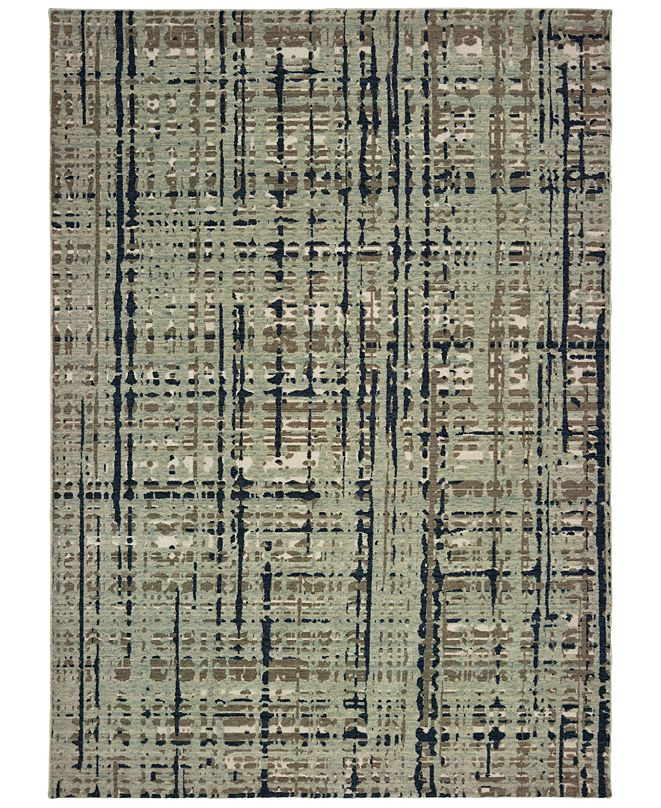 "Oriental Weavers Montage 8020B Blue/Tan 9'10"" x 12'10"" Area Rug"