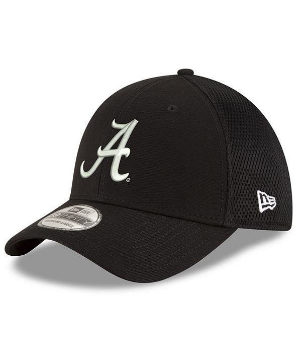 New Era Alabama Crimson Tide Black White Neo 39THIRTY Cap