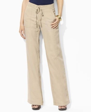 Lauren by Ralph Lauren Pants, Giselle Straight Leg Pull On Linen