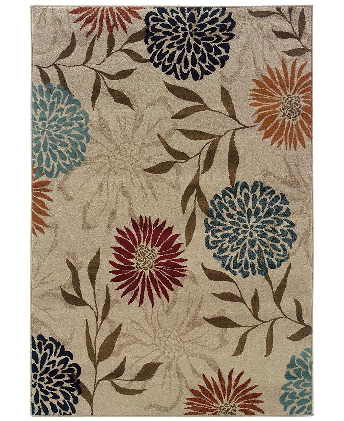 "Oriental Weavers - Adrienne 4142A Stone/Multi 7'10"" x 10'10"" Area Rug"