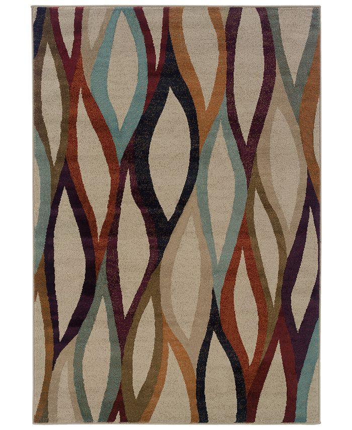 "Oriental Weavers - Adrienne 4178B Stone/Multi 7'10"" x 10'10"" Area Rug"