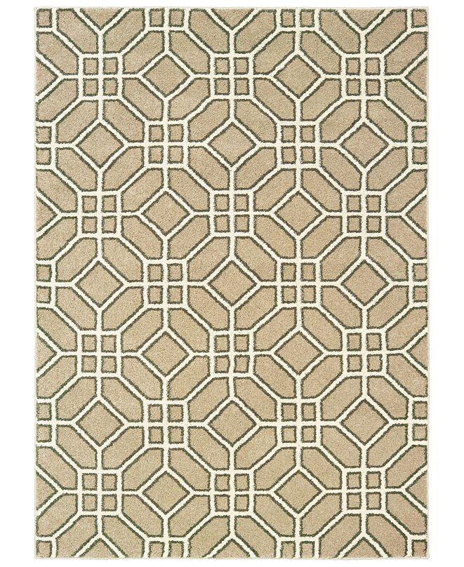 Oriental Weavers Carson 9669D Sand/Ivory 2' x 3' Area Rug