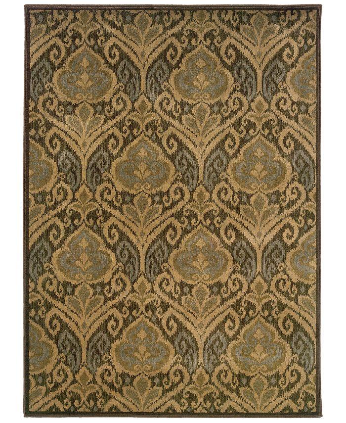 "Oriental Weavers - Casablanca 4464A Green/Ivory 1'10"" x 3'3"" Area Rug"