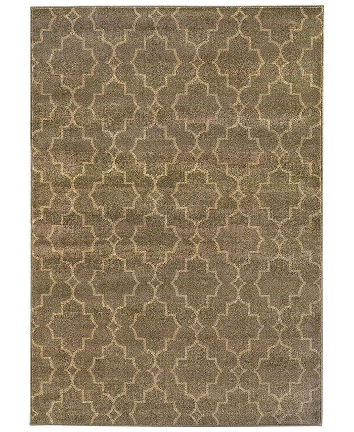 """Oriental Weavers - Casablanca 5329B Brown/Ivory 1'10"""" x 3'3"""" Area Rug"""