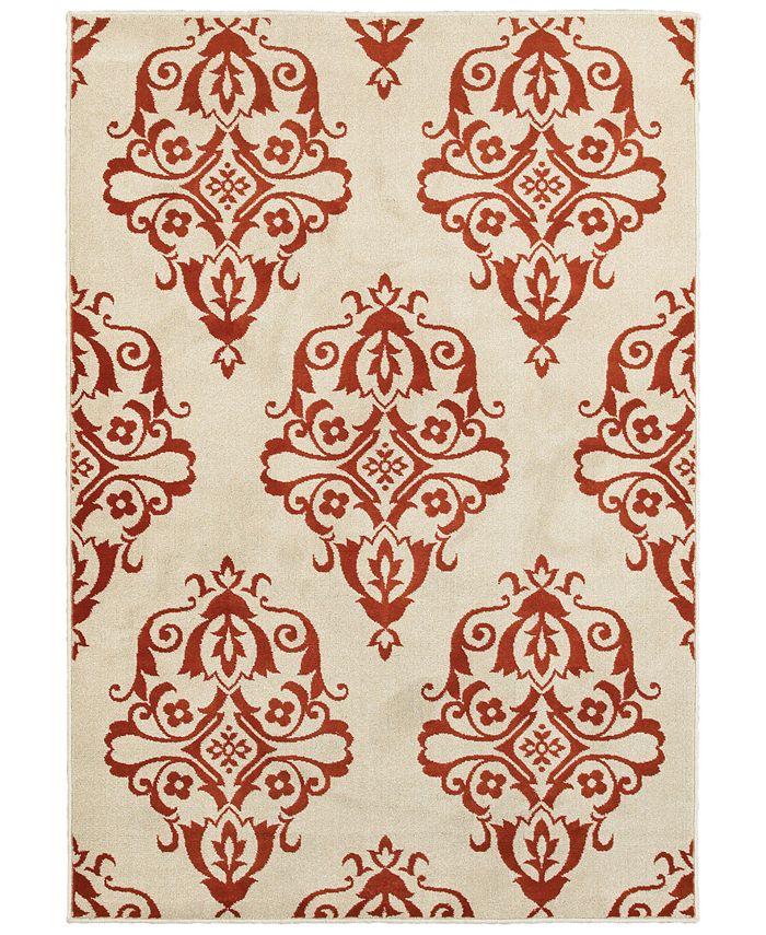 """Oriental Weavers - Jayden 7412D Ivory/Rust 7'10"""" x 10'10"""" Area Rug"""