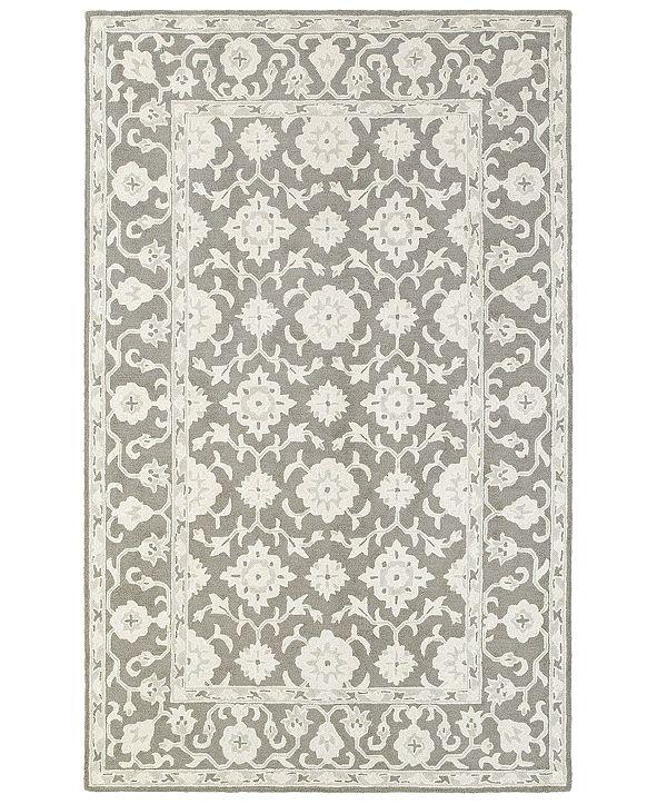 "Oriental Weavers Manor 81204 Gray/Stone 3'6"" x 5'6"" Area Rug"