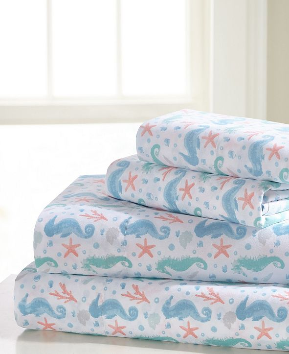 Universal Home Fashions Seahorse Full Sheet Set