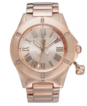 Juicy Couture Watch, Women's Rich Girl Rose Gold-Tone Bracelet 41mm 1900895