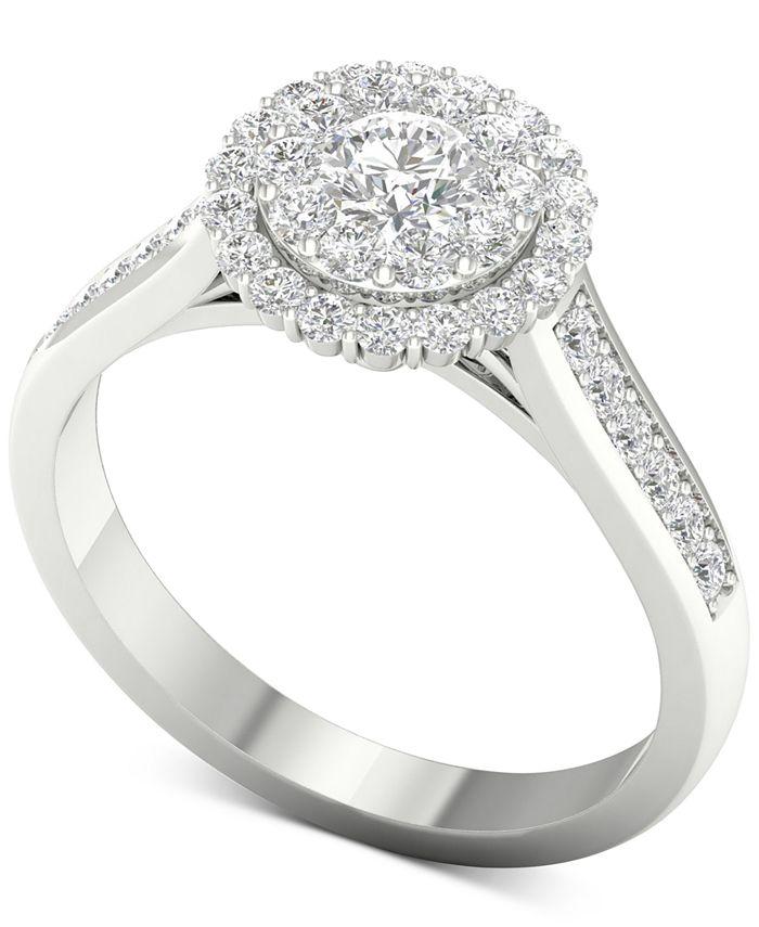 Macy's - Diamond (1 ct. t.w.) Halo Ring in 14k White Gold