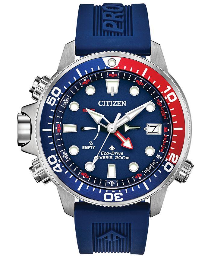 Citizen - Men's Promaster Aqualand Blue Silicone Strap Watch 46mm