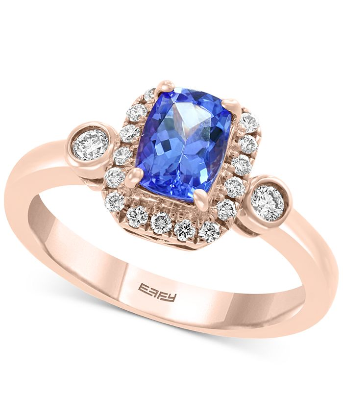 EFFY Collection - Tanzanite (3/4 ct. t.w.) and Diamond (1/4 ct. t.w.) Ring in 14k Rose Gold