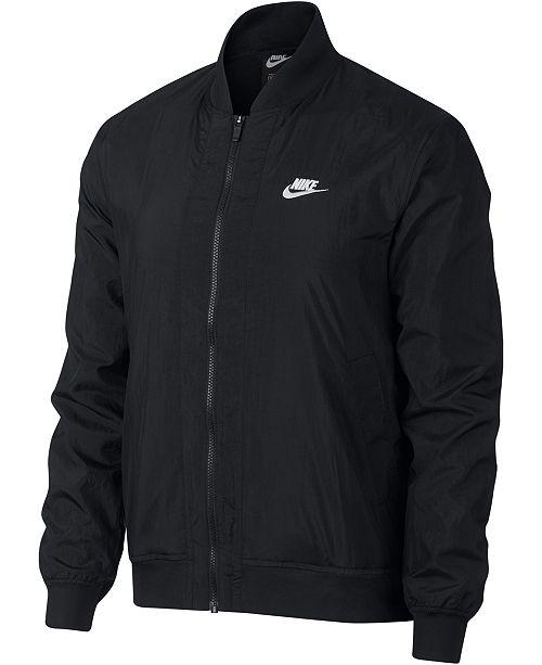 Nike Men's Bomber Jacket & Reviews - Coats & Jackets - Men ...