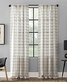 Clean Window Textured Twill Stripe Anti-Dust Curtain Panel Collection