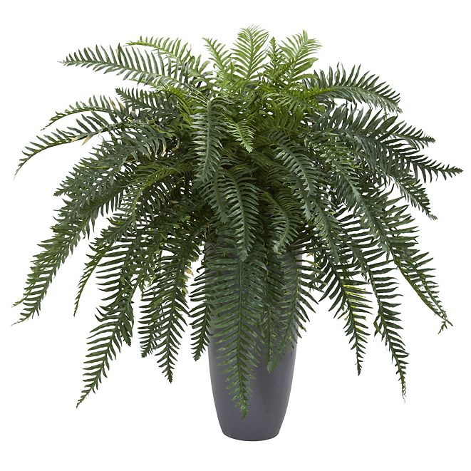 Nearly Natural River Fern Artificial Plant in Cylinder Planter