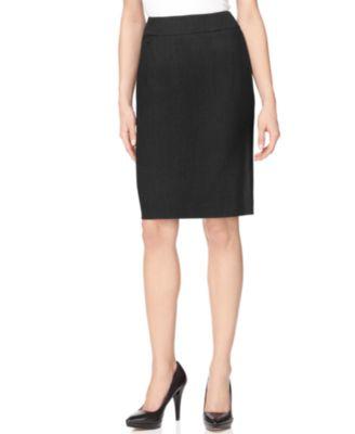 Tahari ASL Petite Faux-Leather Pencil Skirt - Wear to Work - Women ...