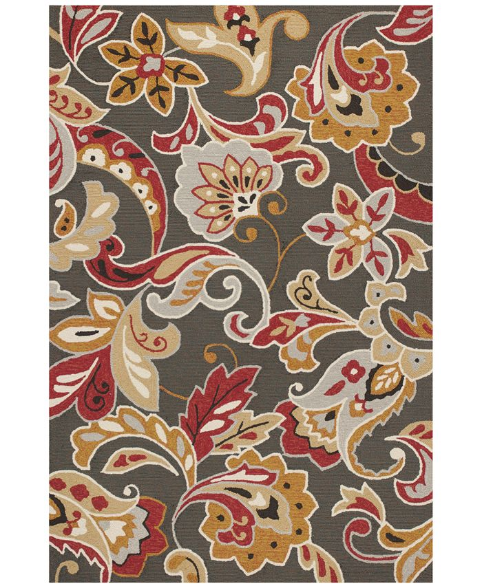 Kas - Harbor Flora 4213 Taupe 2' x 3' Indoor/Outdoor Area Rug