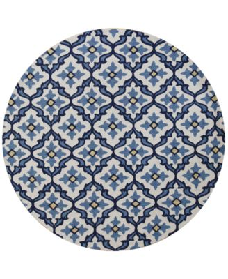 "Harbor Mosaic 7'6"" Indoor/Outdoor Round Area Rug"