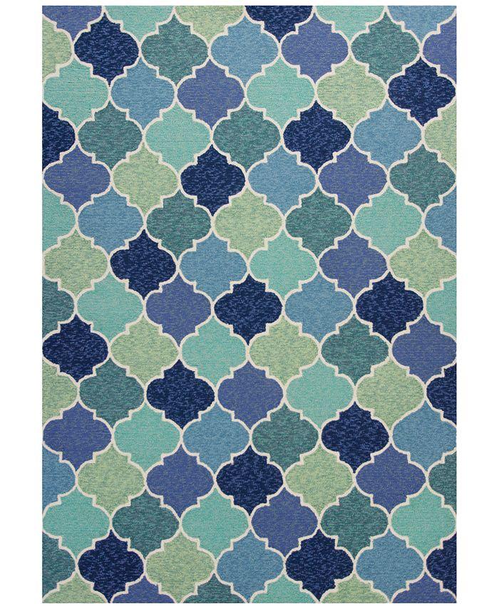 "Kas - Harbor Stella 4231 Blue 5' x 7'6"" Indoor/Outdoor Area Rug"