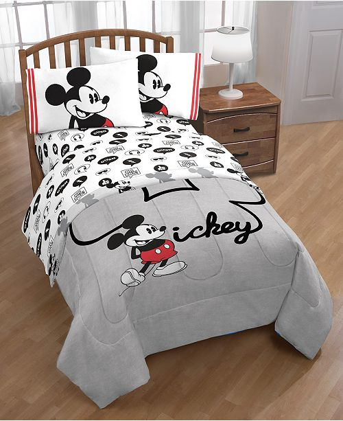 Disney Mickey Mouse Jersey Classic 4 Pc. Twin Bed in a Bag