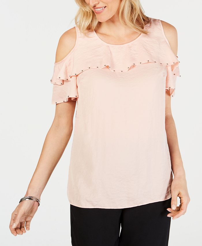 JM Collection - Ruffled Off-The-Shoulder Top