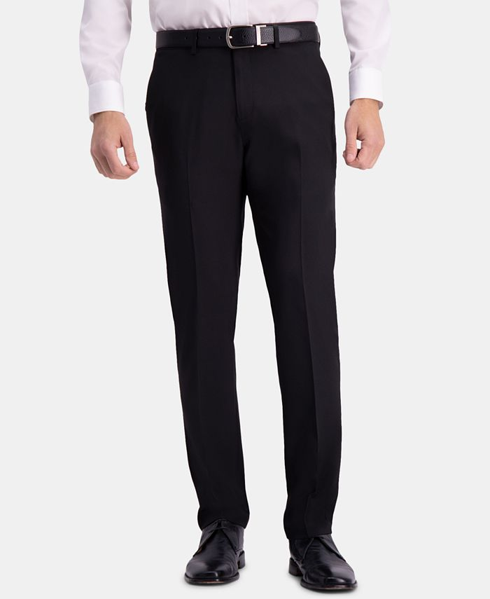 Haggar - Men's The Active Series Straight-Fit Performance Stretch Solid Dress Pants