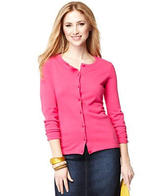 Style&co. Cardigan, Three Quarter Sleeve Ruched