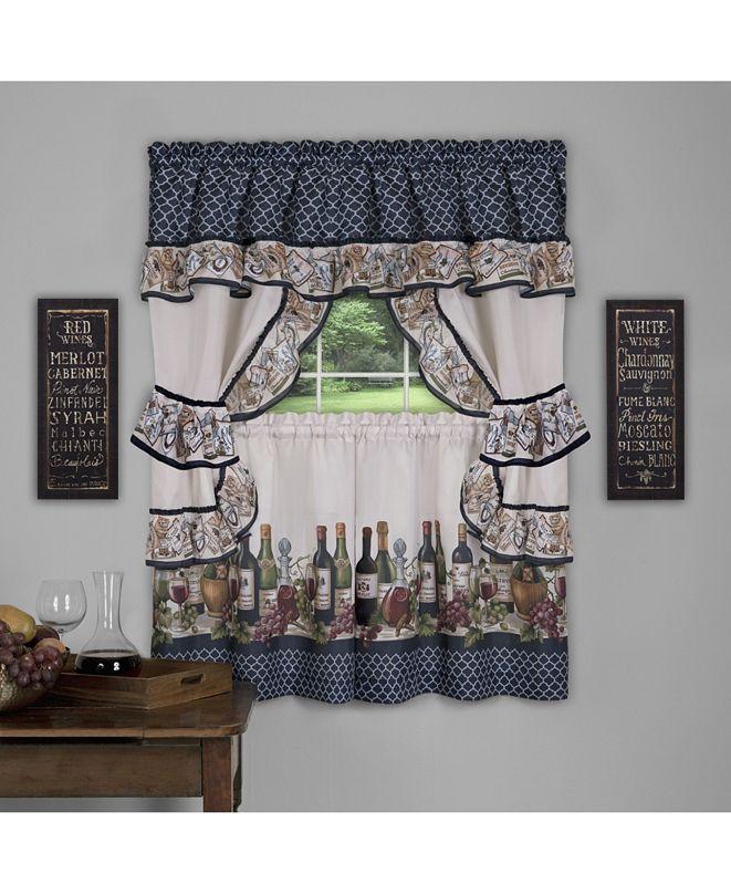 Achim Chateau Cottage Window Curtain Set, 57x24