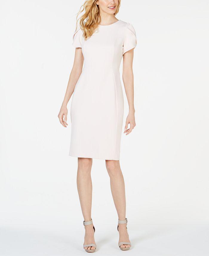 Calvin Klein - Tulip-Sleeve Sheath Dress
