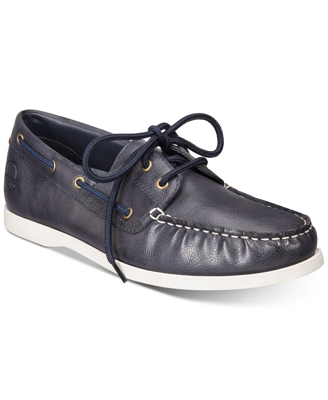 Weatherproof Vintage Benny Boat Men's Shoes (Navy)